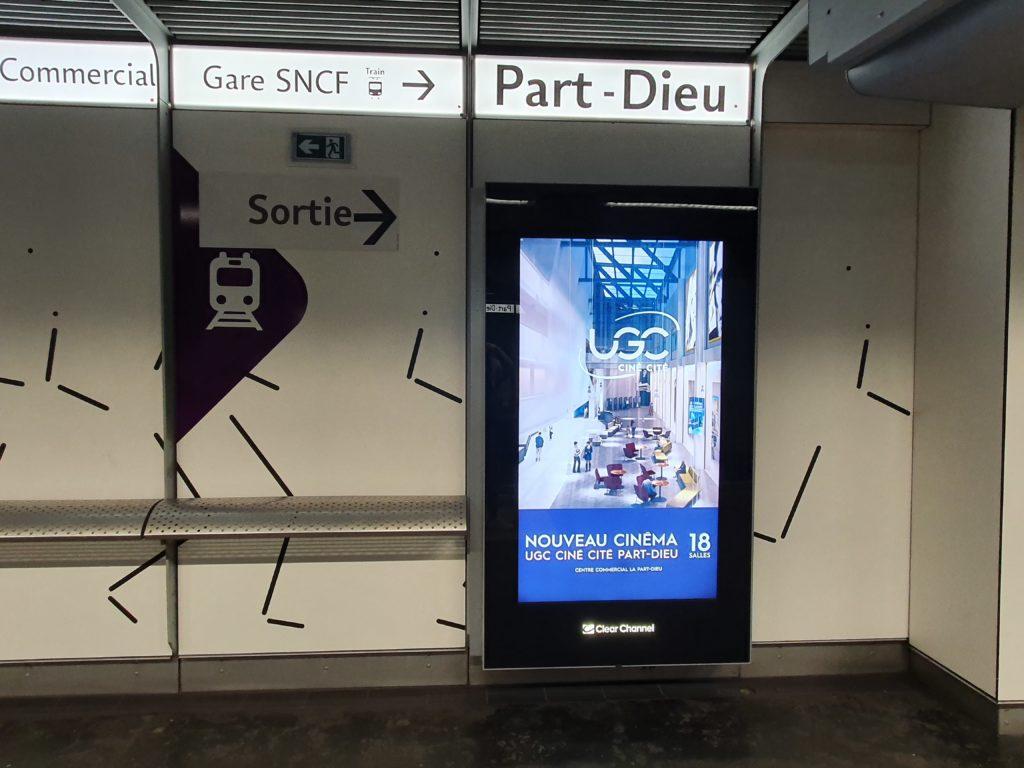 achat média arrêt métro La Part-Dieu